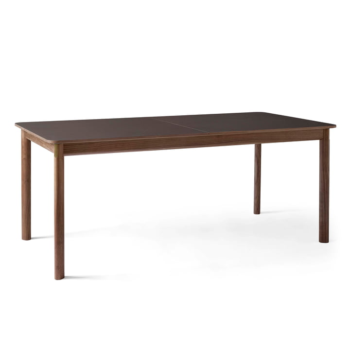 Patch HW1 Dining table 180 x 90 cm from & tradition in walnut / Fenix Nano laminate cacao orinoco 0749