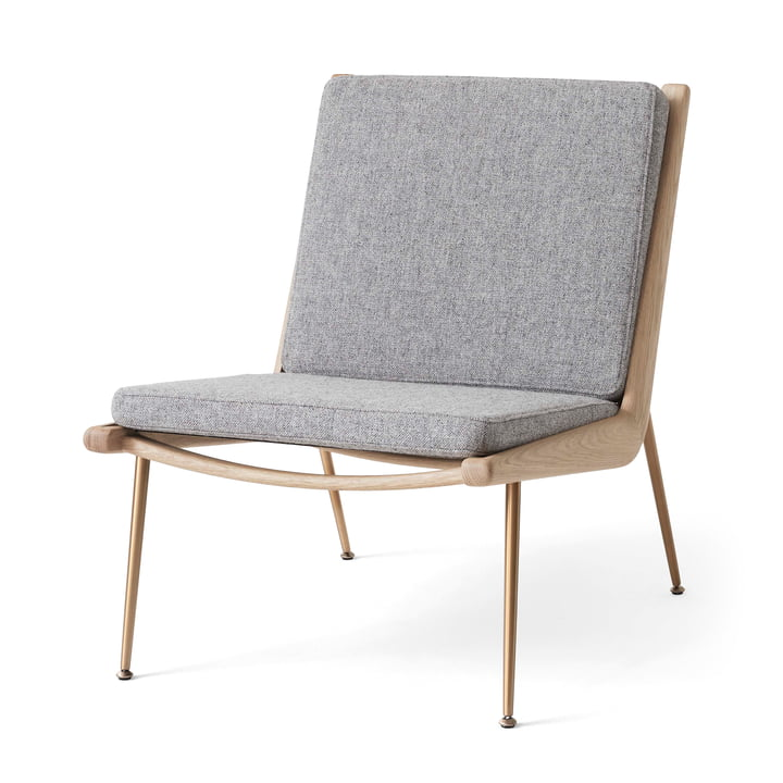 Boomerang HM1 Loungechair from & tradition in white oiled oak / Hallingdal 130