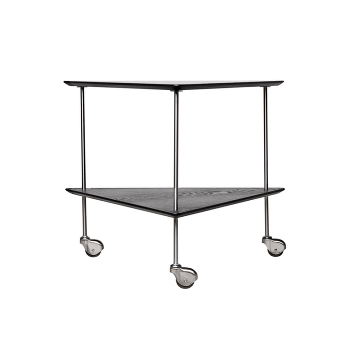 AJ Trolley side table by Fritz Hansen in black / chrome ash