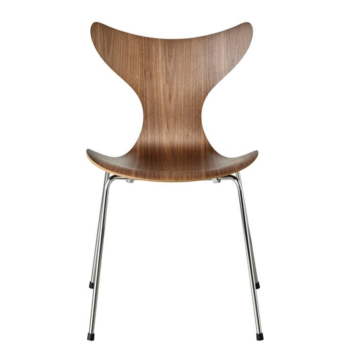 Lilie chair by Fritz Hansen in walnut / chrome