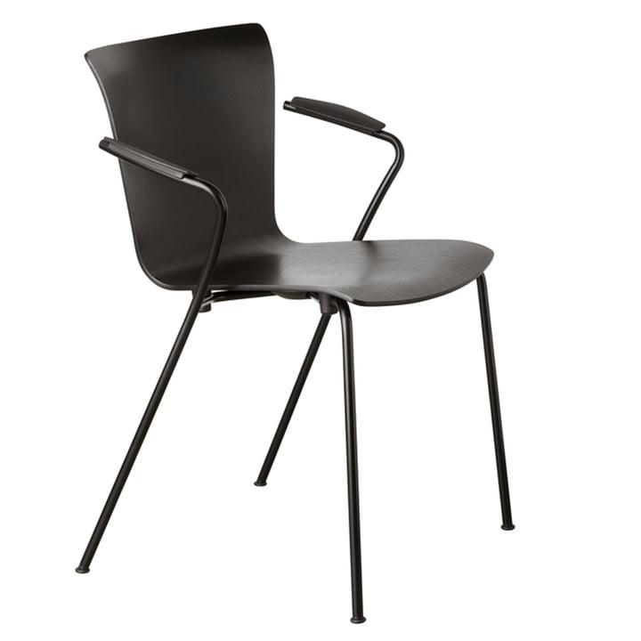 Vico Duo armchair by Fritz Hansen in black / black ash