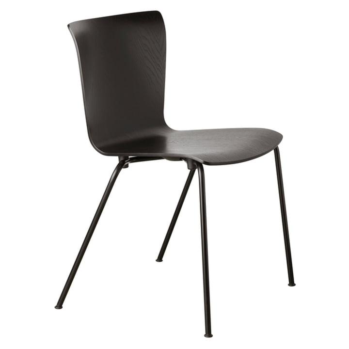 Vico Duo chair by Fritz Hansen in black / black ash.
