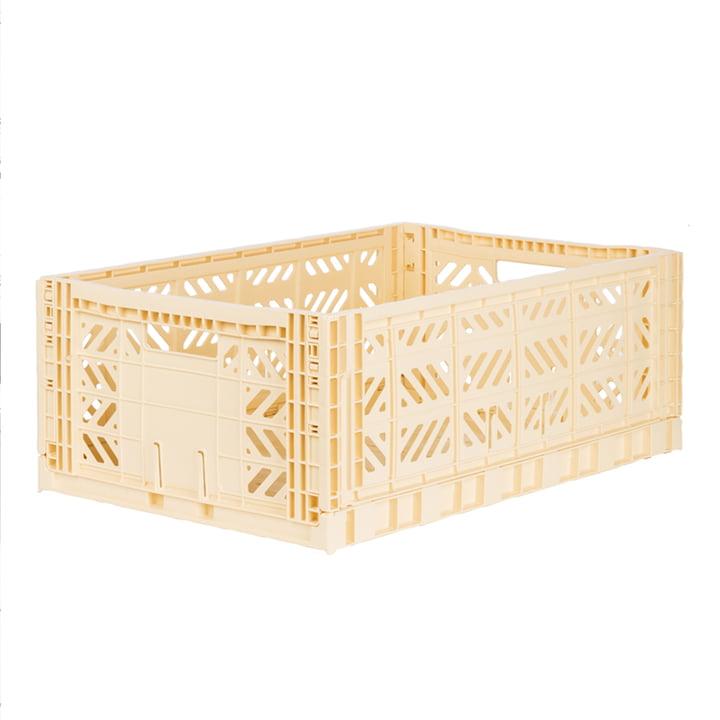 Folding box Maxi 60 x 40 cm from Aykasa in banana