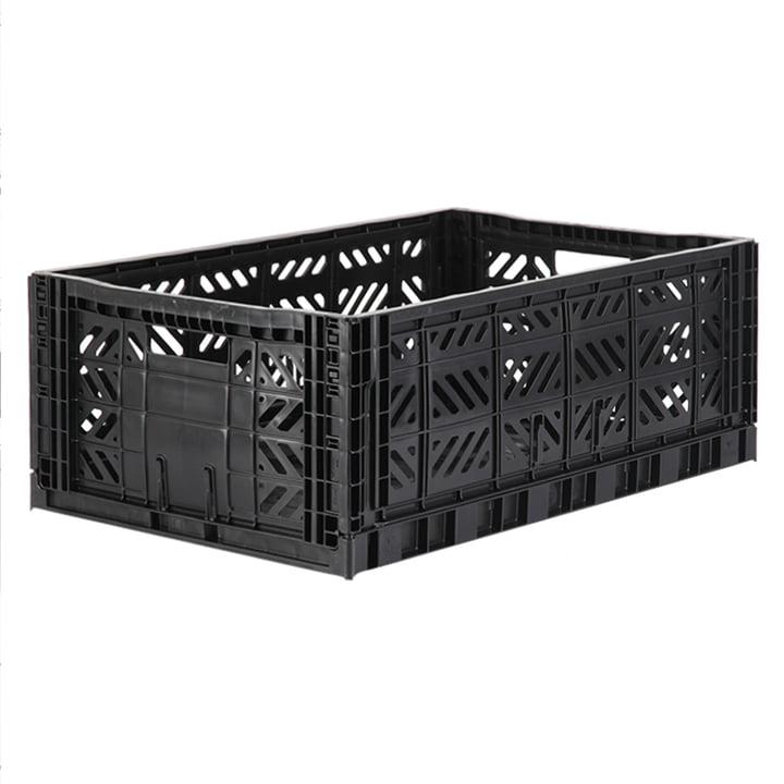 Folding box Maxi 60 x 40 cm from Aykasa in black