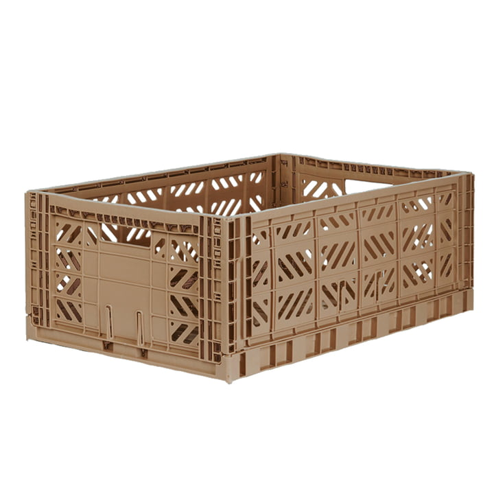 Folding box Maxi 60 x 40 cm from Aykasa in warm taupe