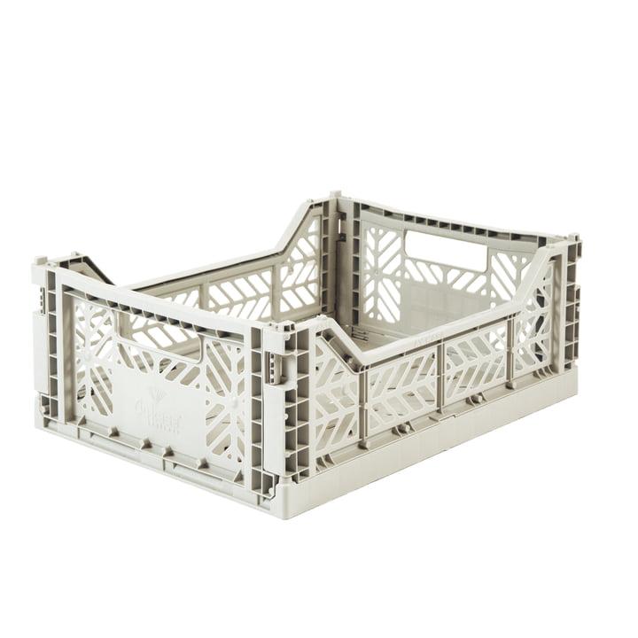 Folding box Midi 40 x 30 cm from Aykasa in light grey