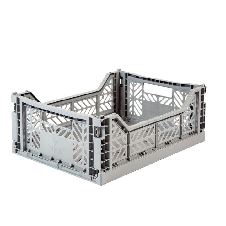 Folding box Midi 40 x 30 cm from Aykasa in grey