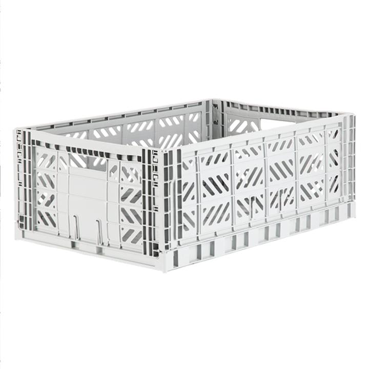 Folding box Maxi 60 x 40 cm from Aykasa in light grey