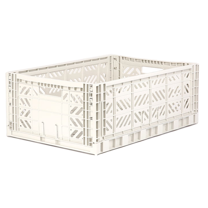Folding box Maxi 60 x 40 cm from Aykasa in coconut milk
