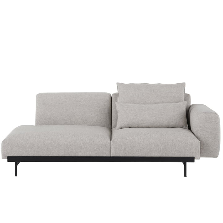 In Situ Modular Sofa, 2-seater / configuration 2, Kvadrat Clay 12 by Muuto