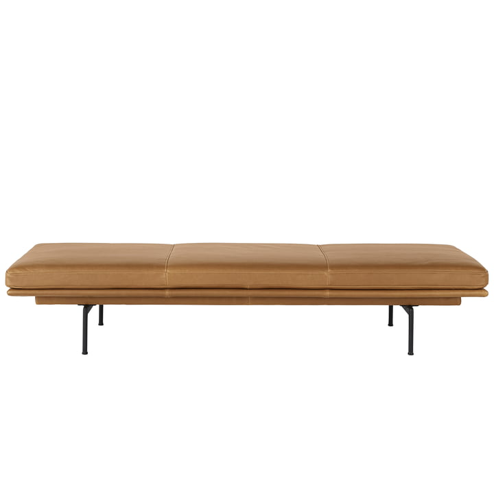 Outline Daybed Refine leather cognac from Muuto
