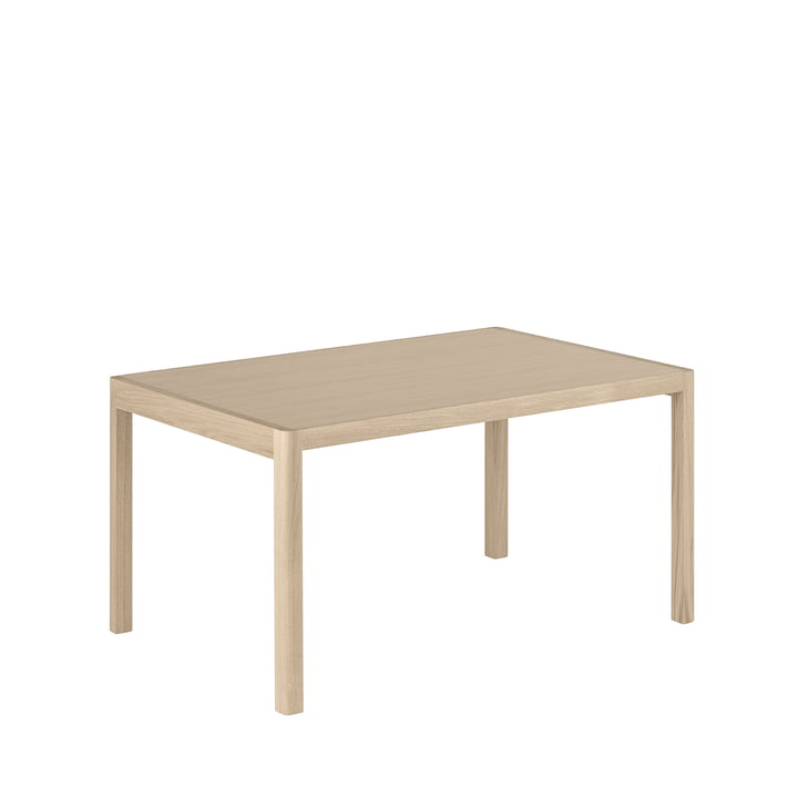 Workshop dining table, 140 x 92 cm, oak from Muuto