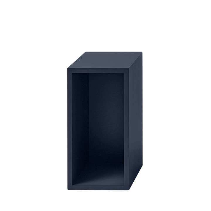 Stacked shelf module 2. 0 with rear panel, small / midnight blue from Muuto
