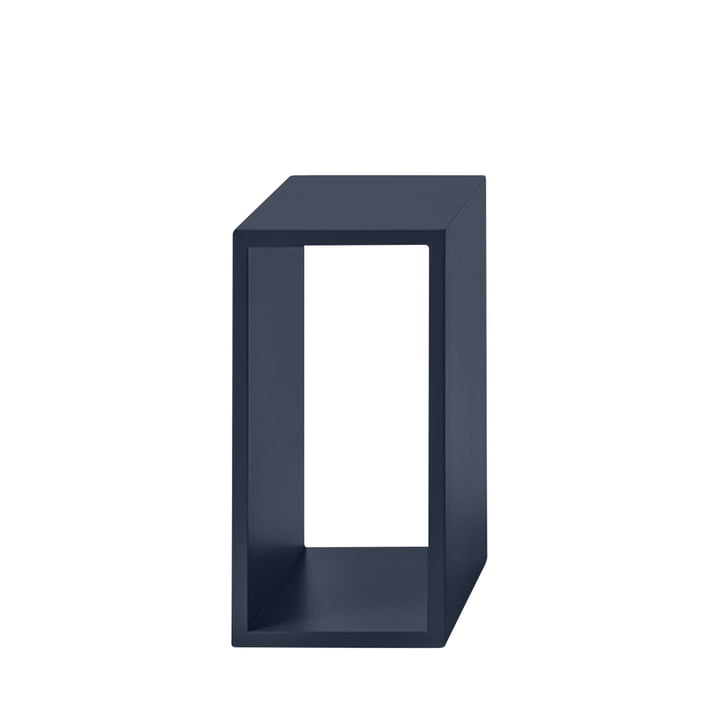 Stacked shelf module 2. 0 without rear panel, small / midnight blue from Muuto
