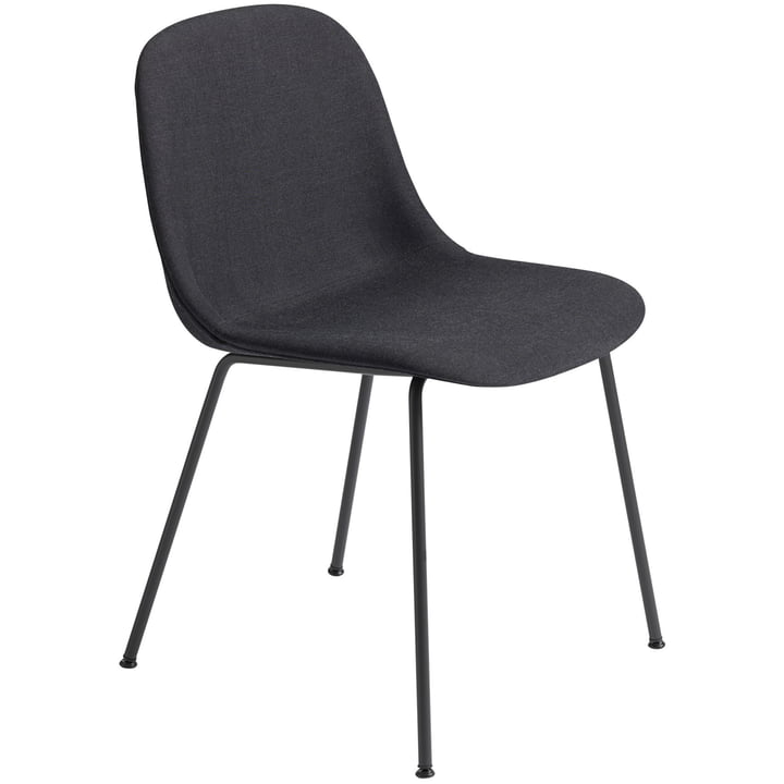 Fiber Side Chair Tube Base, black / Remix 183 by Muuto