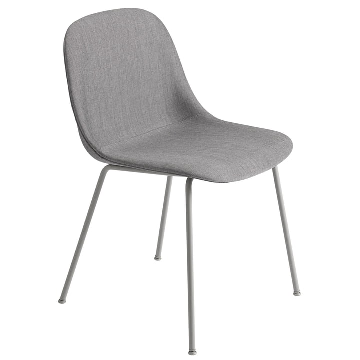 Fiber Side Chair Tube Base, grey / Remix 133 from Muuto
