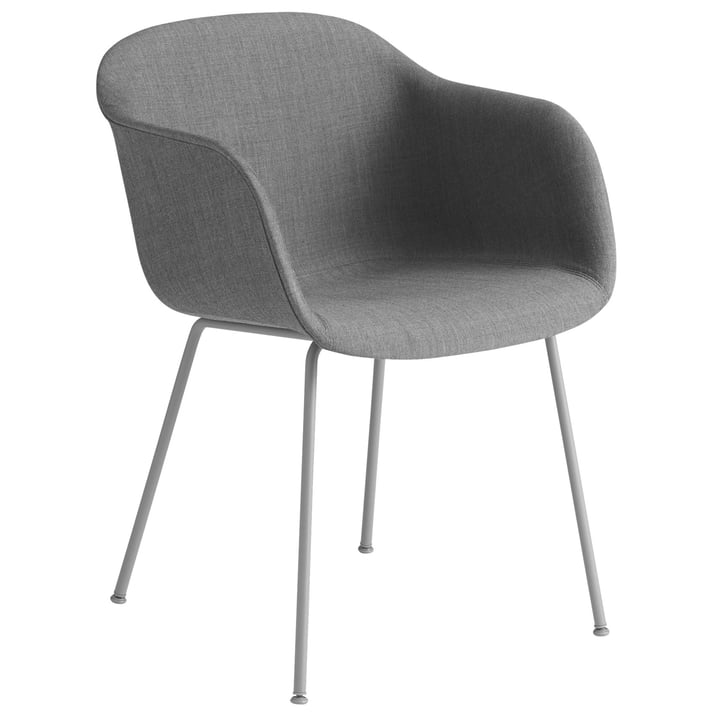 Fiber Chair Tube Base , grey / Remix 133 by Muuto