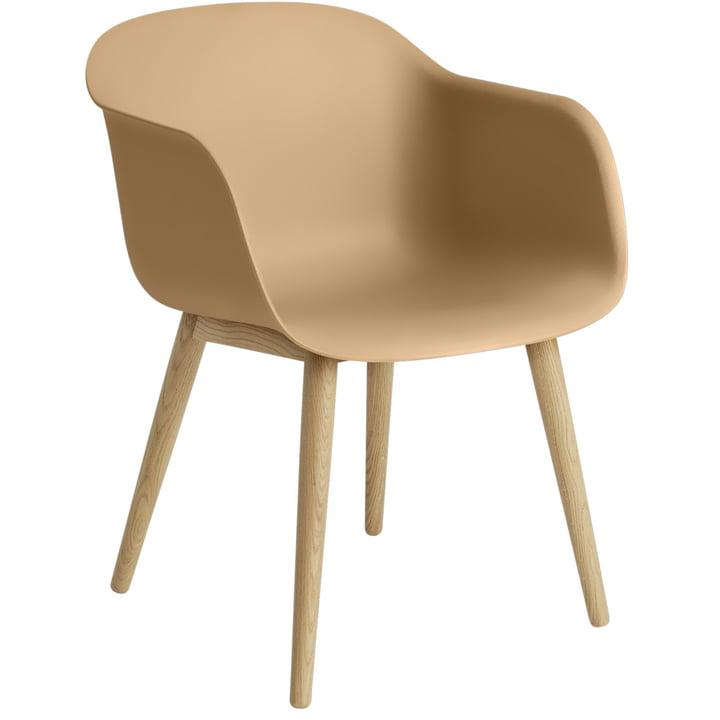Fiber Chair Wood Base, oak / ochre from Muuto