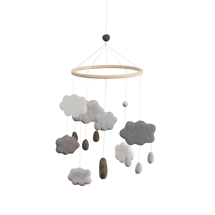Baby Mobile Clouds from Sebra in warm grey