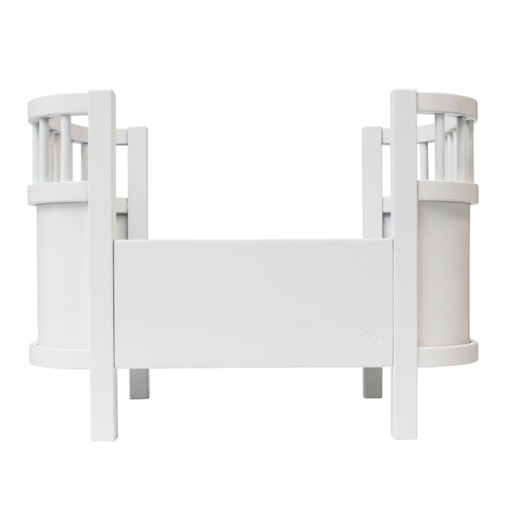 Doll bed without side railing from Sebra in white