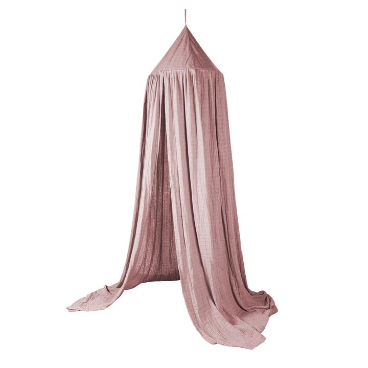 Bed canopy from Sebra in blush rose