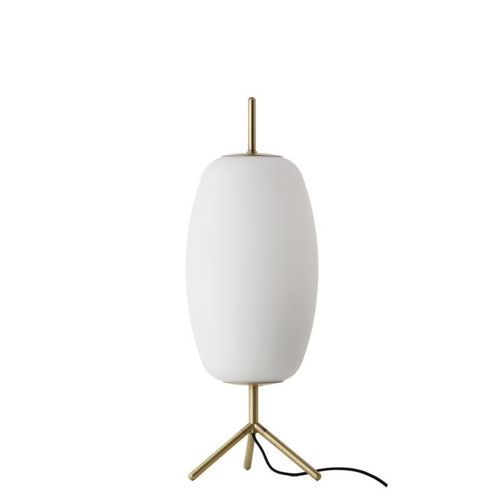 Silk Table lamp Ø 22 H 53 cm, opal glass / antique brass by Frandsen