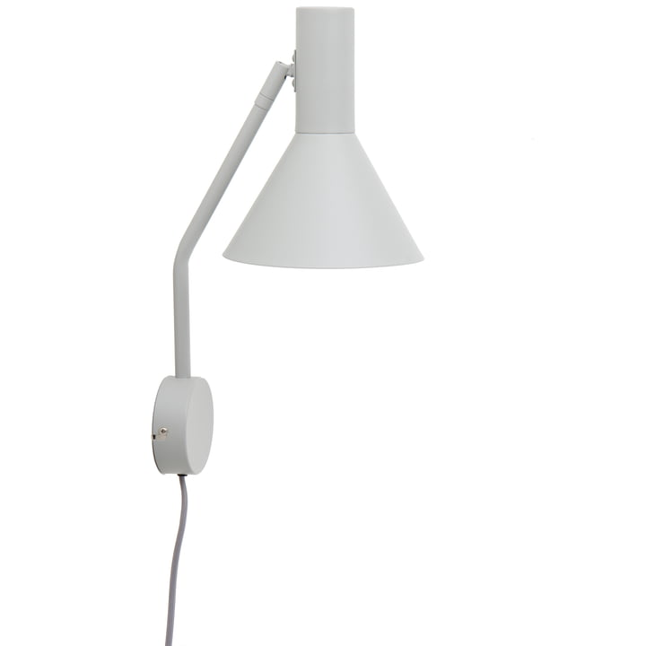 Lyss wall lamp, light grey matt from Frandsen