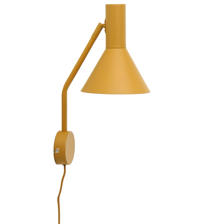Lyss wall lamp, almond matt from Frandsen