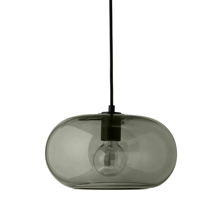Kobe pendant lamp Ø 30 cm, glass green / black from Frandsen