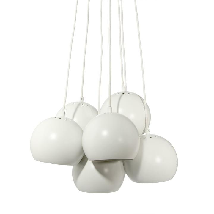 Ball Pendant luminaire Multi, white matt from Frandsen