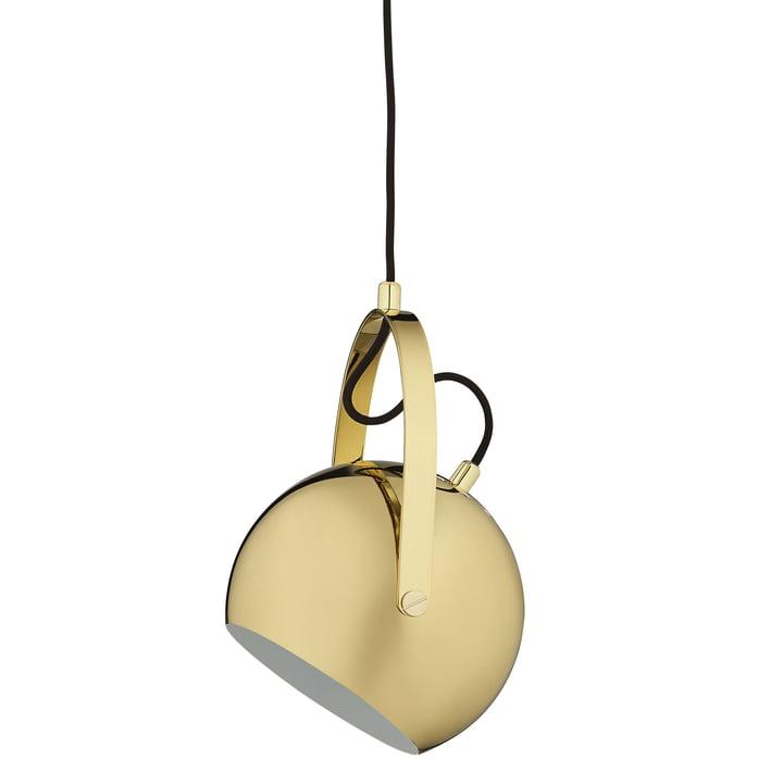 Ball Pendant lamp with handle Ø 19 cm, brass from Frandsen