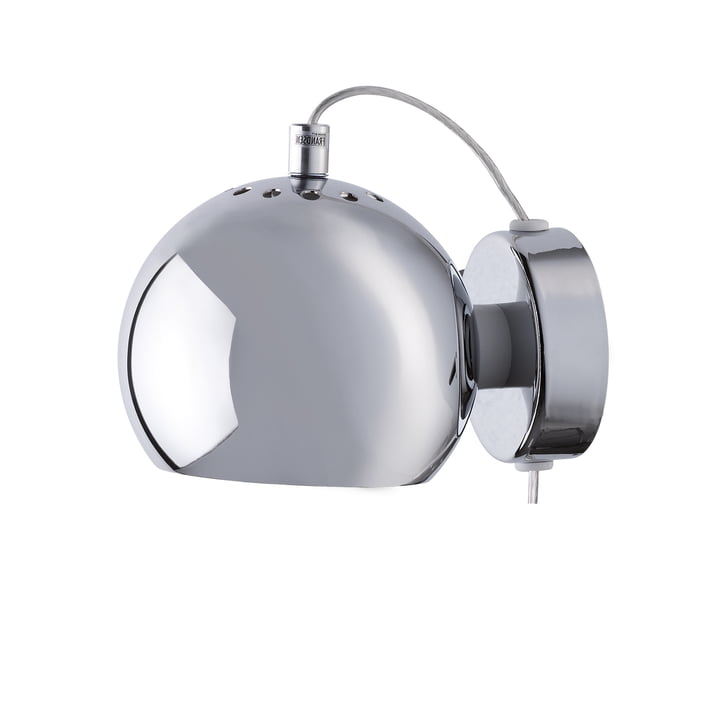 Ball Wall lamp, chrome by Frandsen