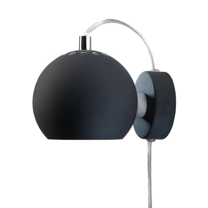 Ball Wall lamp, black matt from Frandsen