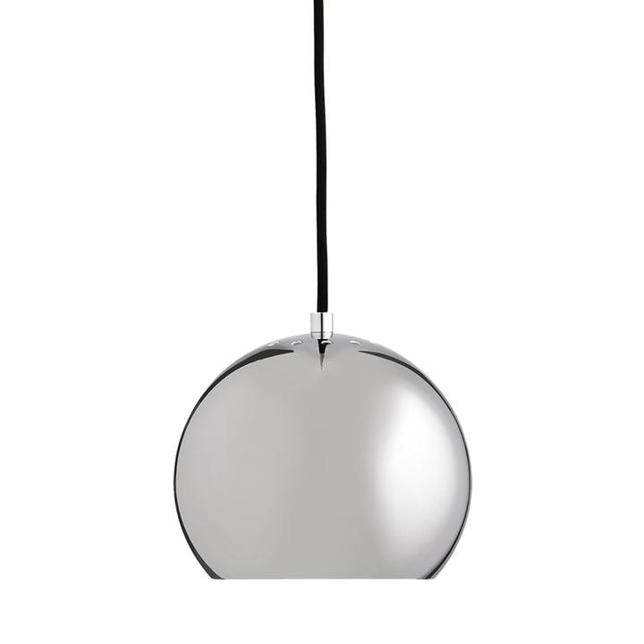 Ball Pendant lamp Ø 18 cm, chrome / white from Frandsen