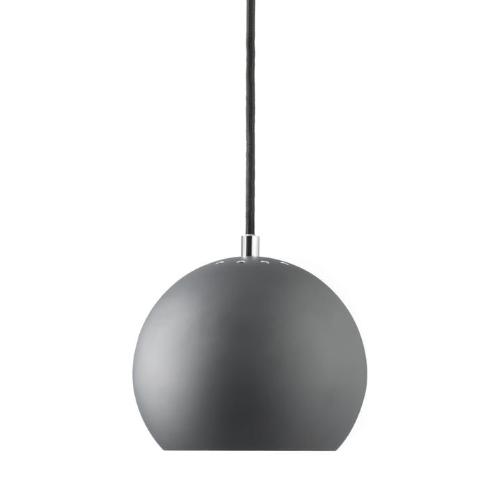 Ball Pendant lamp Ø 18 cm, dark grey matt / white from Frandsen