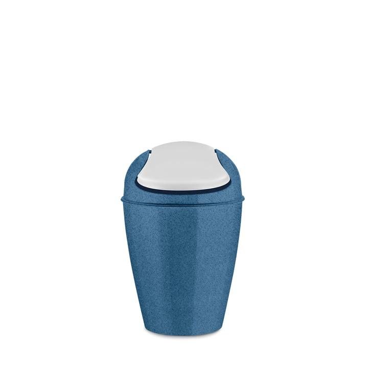 DEL S swing lid pail 5 l from Koziol in organic deep blue