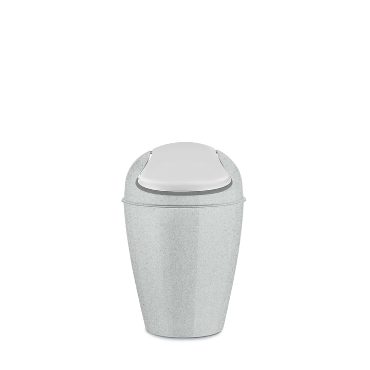 DEL S swing lid pail 5 l from Koziol in organic grey