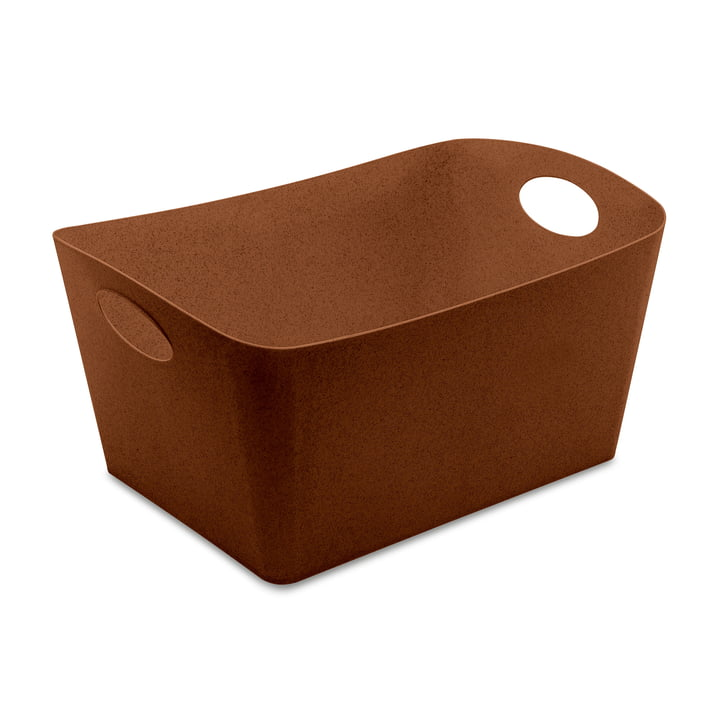 Boxxx L Storage box from Koziol in organic rusty steel