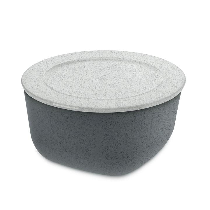 Connect L Storage can 2 l of Koziol in organic deep grey