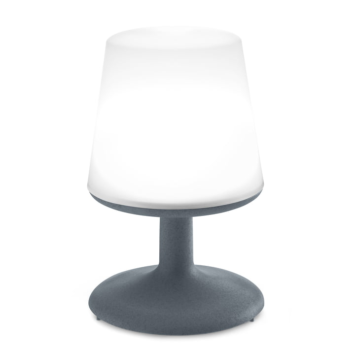 Light to go battery table lamp from Koziol in organic deep grey