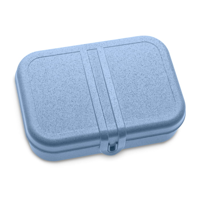Pascal L Lunchbox with divider from Koziol in organic blue