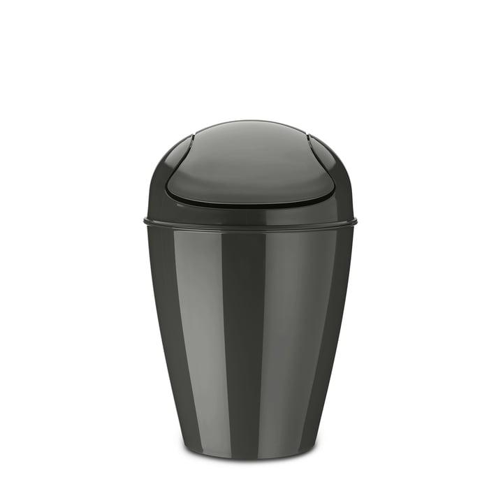 DEL M swing lid bucket 12 l from Koziol in deep grey