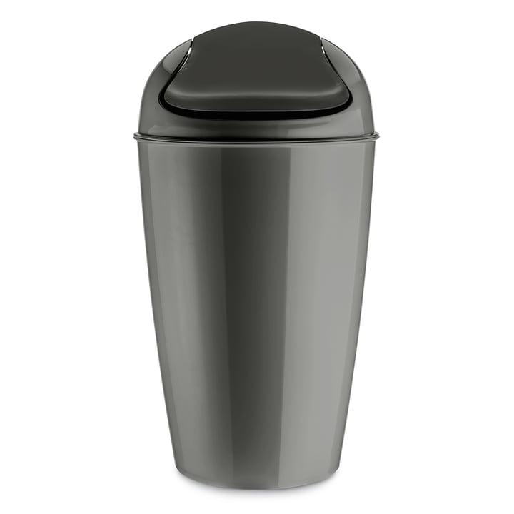 DEL XL swing lid bucket 30 l from Koziol in deep grey