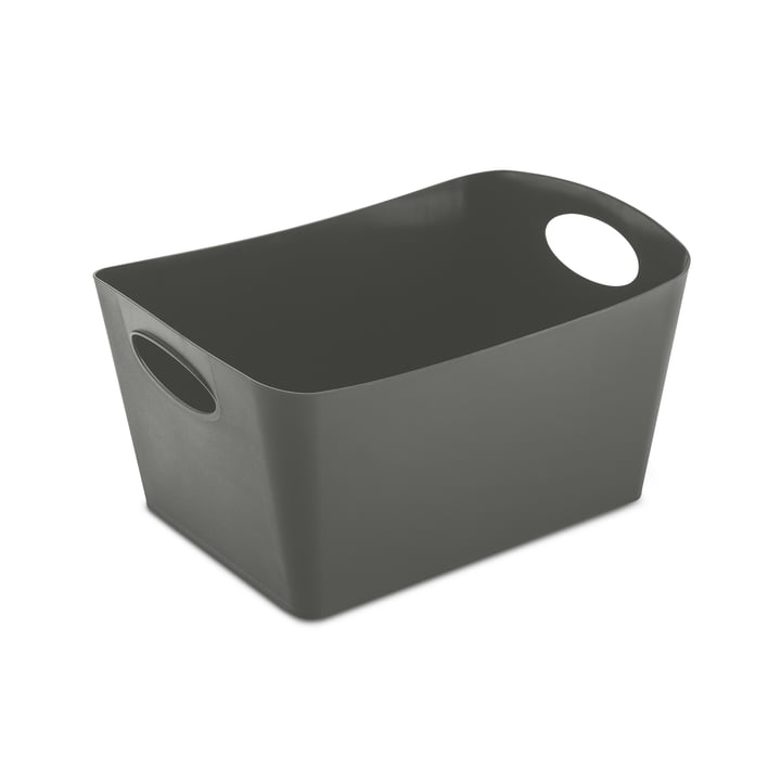 Boxxx M storage box from Koziol in deep grey