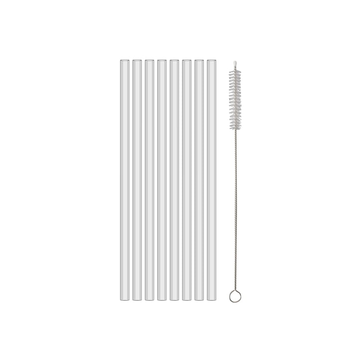 Cheers Safety drinking straws 200 mm from Koziol in (set crystal clear of 8)