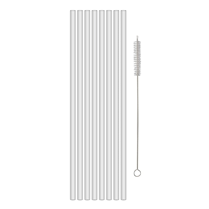 Cheers Safety drinking straws 270 mm from Koziol in (set crystal clear of 8)