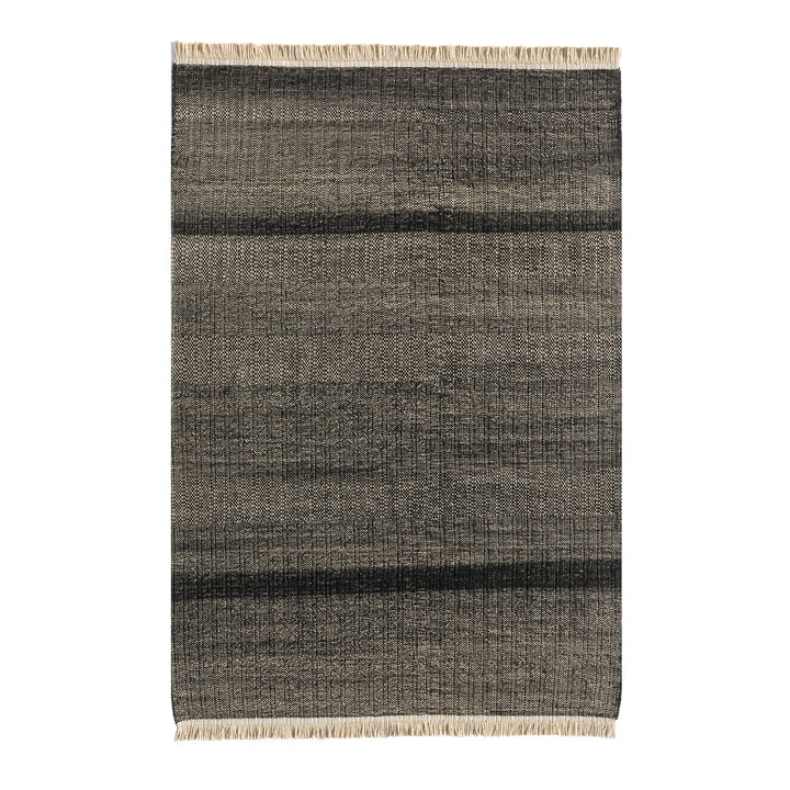 Tres Stripes Outdoor carpet 200 x 300 cm from nanimarquina in black