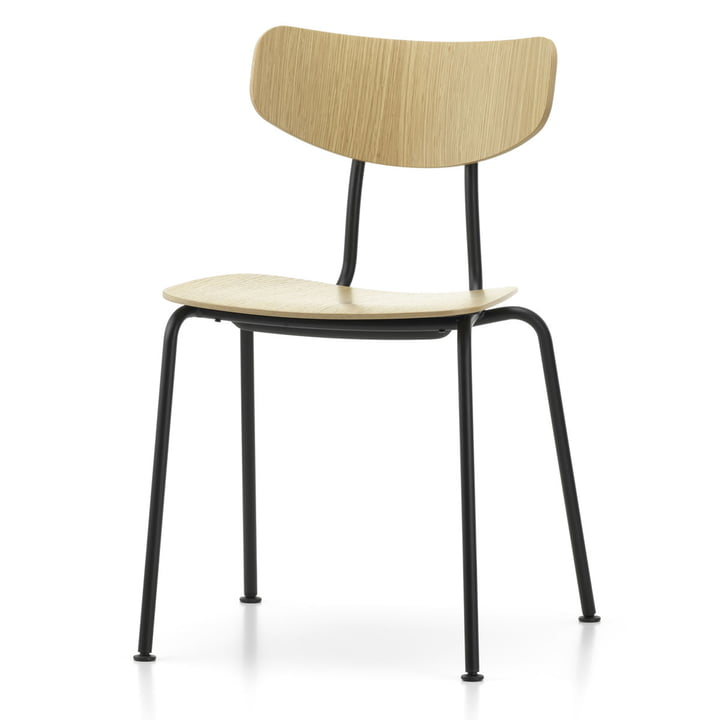Moca Chair from Vitra in natural oak / black
