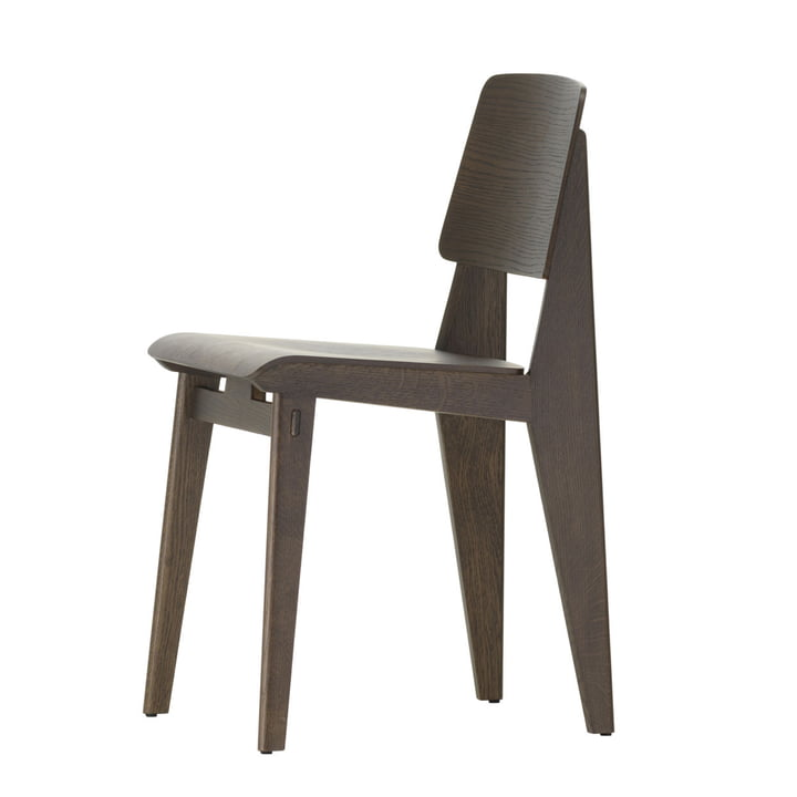 Chaise Tout Bois Chair from Vitra in dark oak