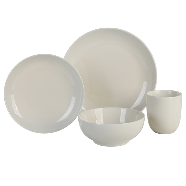 Mix & Match dinnerware set, 4 Connox Collection, cream in the Connox Collection
